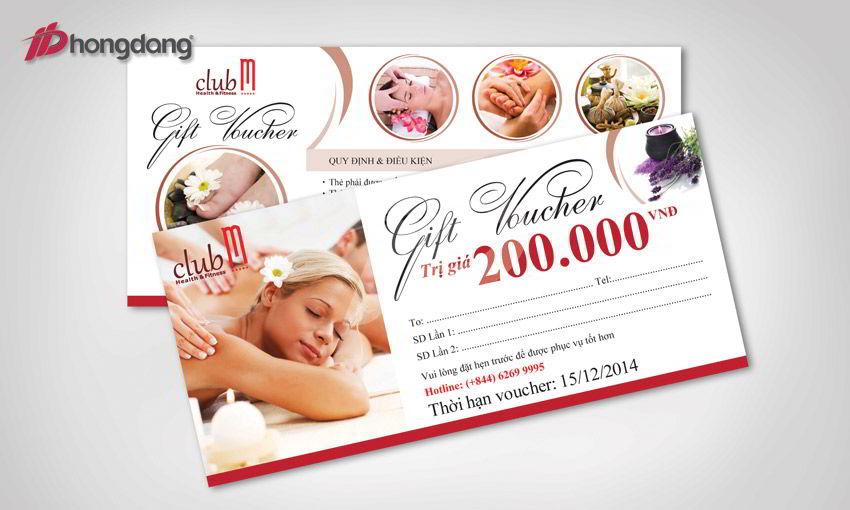 Thiết kế in ấn các thẻ vochuer do Hồng Đăng thực hiện