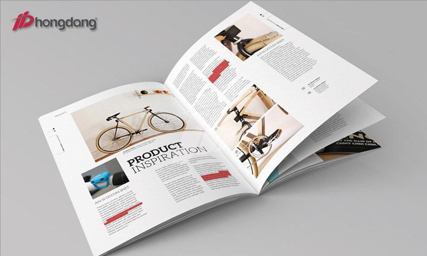 Mẫu tạp chí sử dụng công nghệ in offset