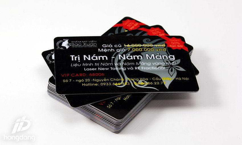 Mẫu thẻ nhựa khuyến mại giảm giá