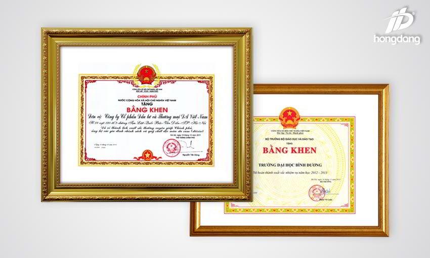 Ý nghĩa của những mẫu giấy khen đẹp nhất tại In Hồng Đăng 1