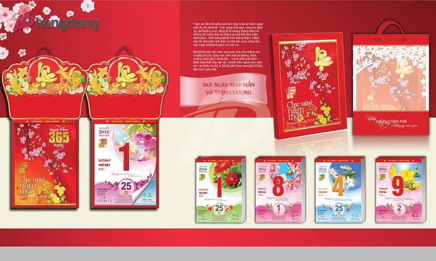 Sản phẩm lịch tết chất lượng tại  In Hồng Đăng