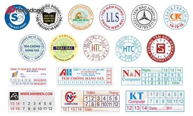 In tem bảo hành giá rẻ tại hà nội