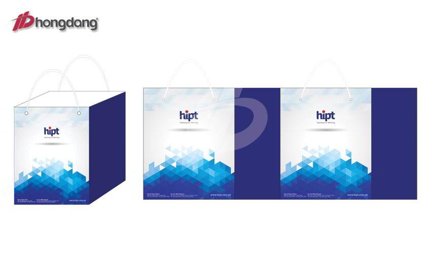 Mẫu thiết kế túi giấy công ty HIPT