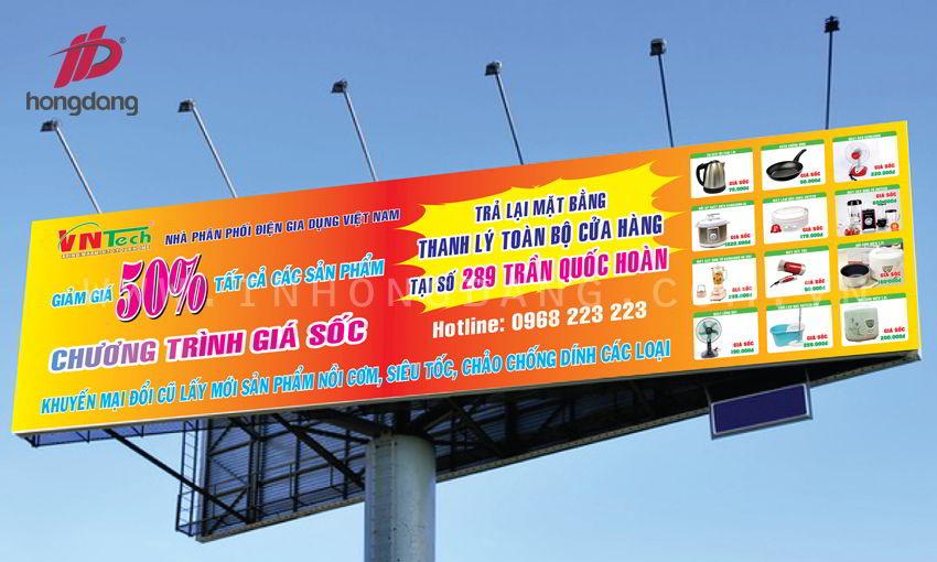 Thiết kế phông bạt biển bảng quảng cáo