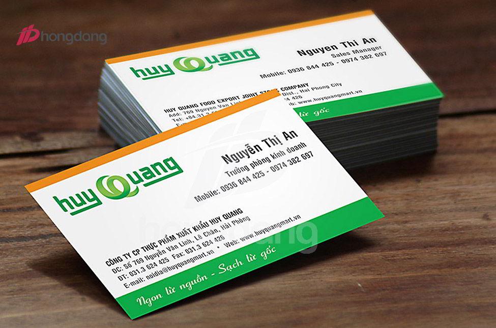 Thiết kế card visit đẹp - ấn tượng cho các doanh nghiệp