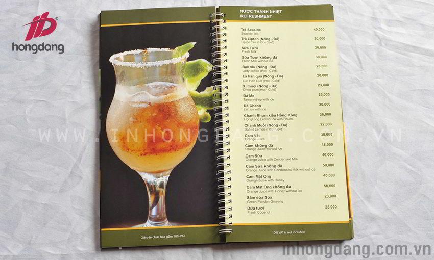 Dịch vụ in menu, in thực đơn giá rẻ, uy tín, chuyên nghiệp tại Hà Nội