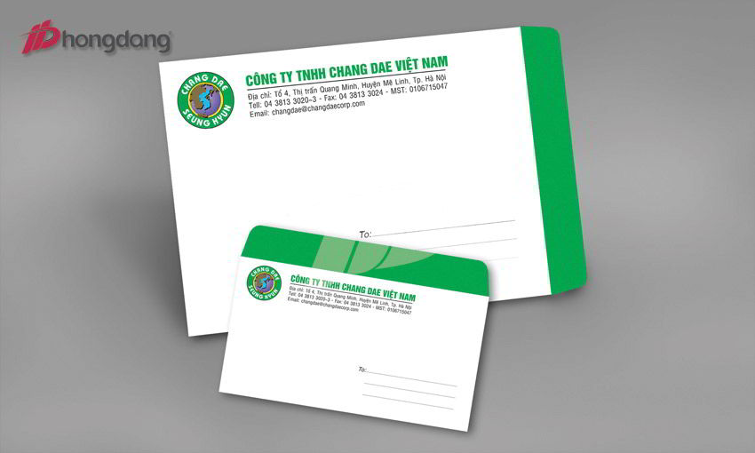 Thiết kế phong bì dành riêng cho doanh nghiệp