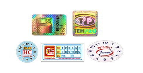 Các mẫu tem bảo hành đẹp