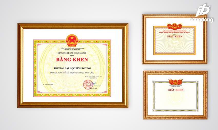 In giấy khen giá rẻ chất lượng cao tại Hà Nội