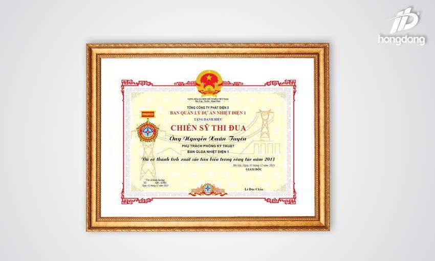 Các bước đặt in giấy khen tại In Hồng Đăng