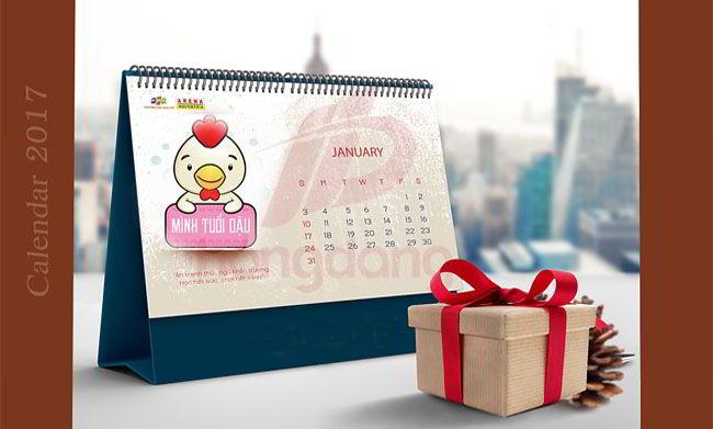 Thiết kế lịch để bàn 2017