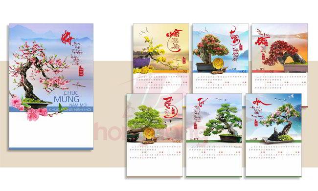 Quy cách báo giá in lịch tết của In Hồng Đăng