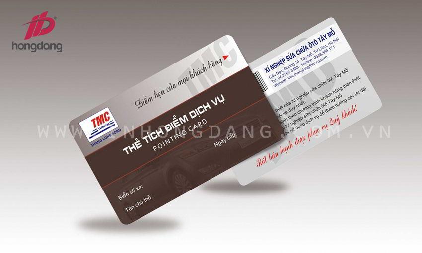 Kỹ thuật in thẻ tích điểm
