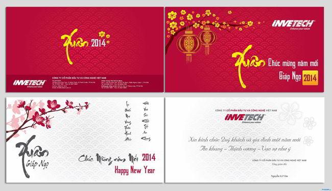 Mẫu thiệp chúc mừng năm mới đẹp