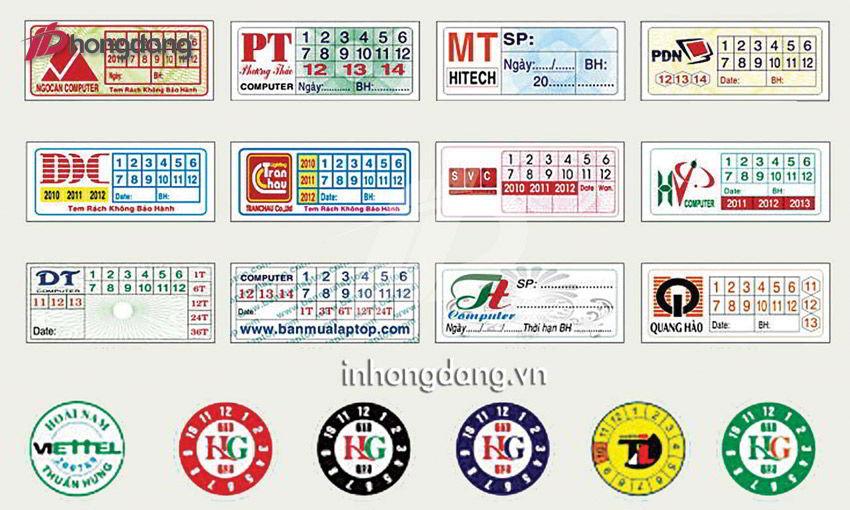 In tem bảo hành hiện nay gồm mấy loại?