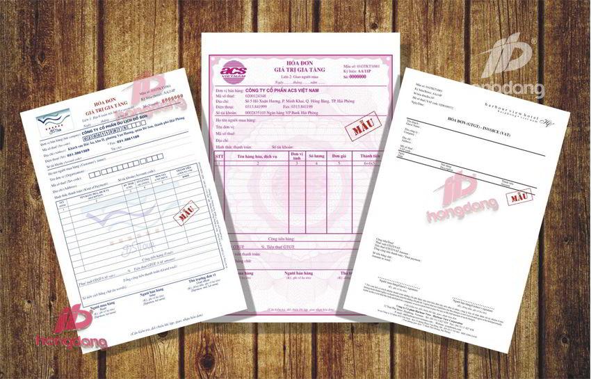 In hóa đơn giá rẻ lấy ngay tại in Hồng Đăng