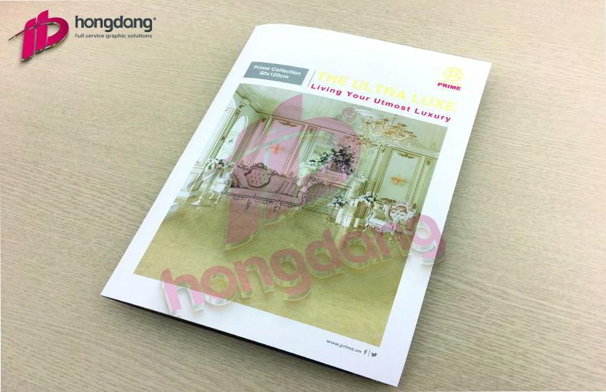 In brochure chất lượng quốc tế cho Tập đoàn Prime Group