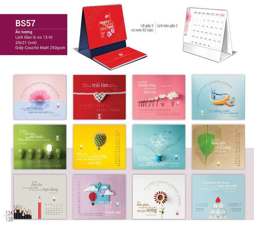Gửi quý khách mẫu lịch để bàn 2018 mới nhất của Hồng Đăng