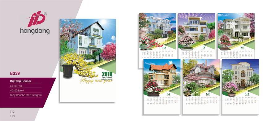 10 thiết kế lịch treo tường 2018