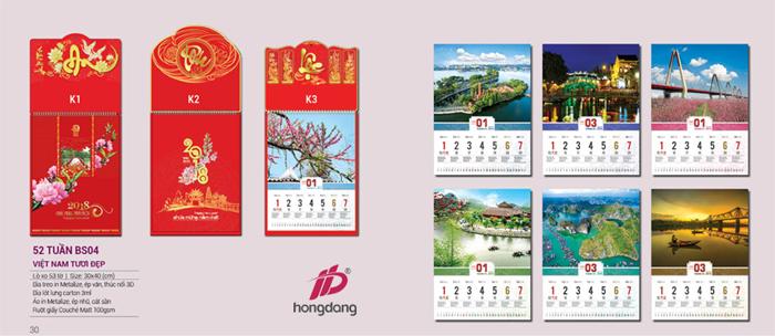 Địa chỉ in lịch tết 2018 chất lượng giá rẻ ở Hà Nội