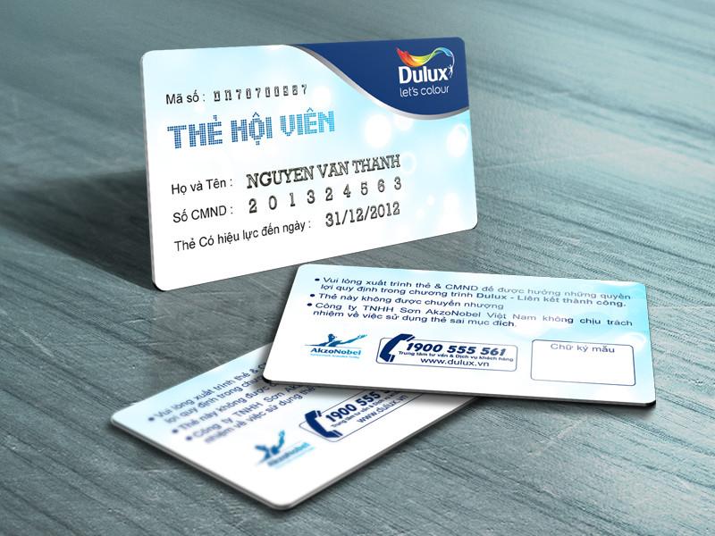 In thẻ nhựa PVC chất lượng cao giá hợp lý