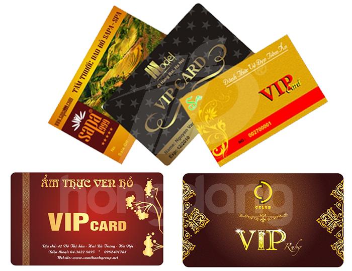 Giúp bạn in thẻ nhựa Vip lấy ngay đảm bảo chất lượng