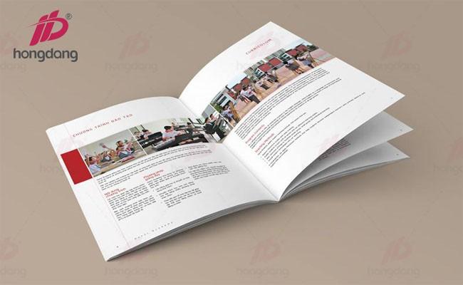 In catalogue giới thiệu sản phẩm trên khổ giấy A4 tại Hà Nội