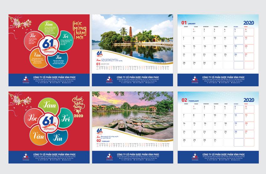 Thiết kế lịch mới lạ cho dịp tết