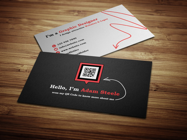 business card qrcode