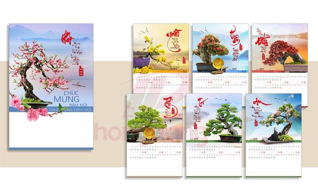 Báo giá in lịch tết tại In Hồng Đăng