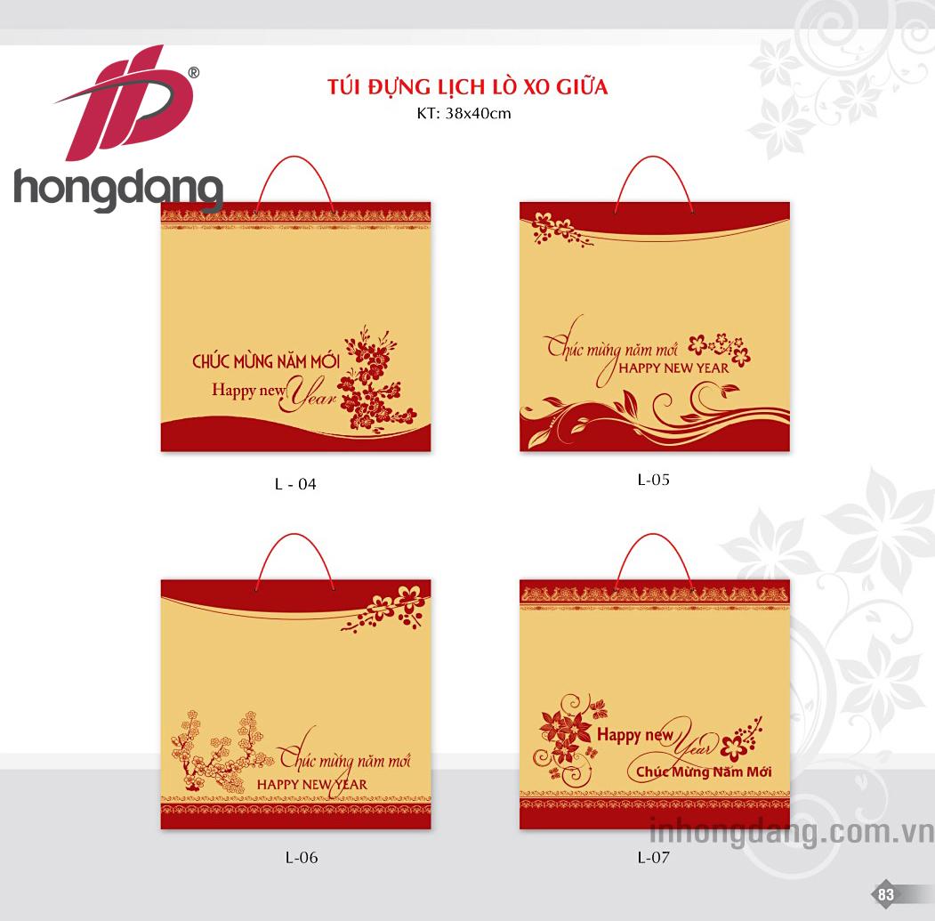 In túi giấy đựng lịch tết tại Hà Nội