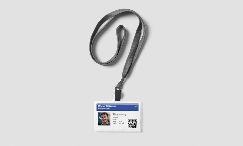 Mẫu thẻ nhân viên sử dụng mã QR code