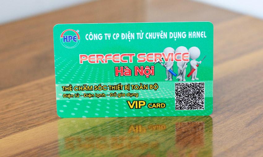 Mẫu thẻ VIP có tích hợp QRcode