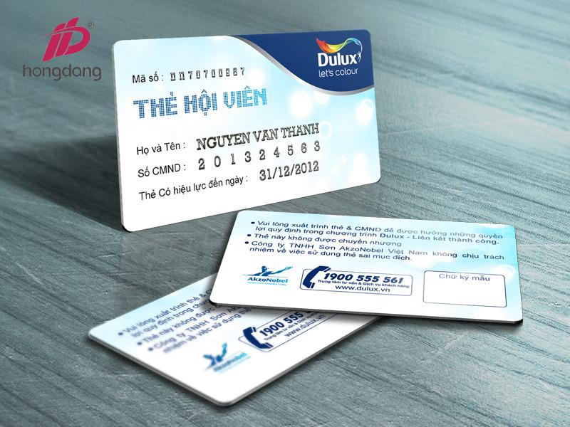 thẻ nhựa hội viên